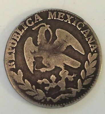 """""""1863 Mexico 4 Reals""""  Silver (.903) Coin  F - Vf Condition - Not Prof. Graded"""