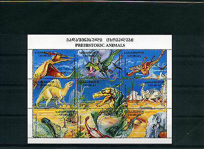 Georgia 1995  Dinosauri 9 Valori In Block Nuovi Mnh New