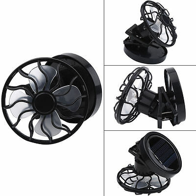 Mini Black Clip-On Solar Cell Fan Sun Power Energy Panel Cooling for Traveling