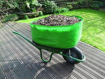Wheelbarrow Booster With Leaf Grabbers New Increases Capacity 300 Percent