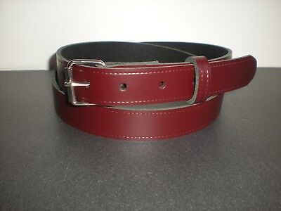 25mm Slight second burgundy leather belts S to X large sizes  £2.99