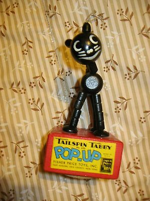 Pop Up Tailspin Tabby No. 600 Toys Made In Usa Anni 50 Cat Gatto N.y. Fisher Pr