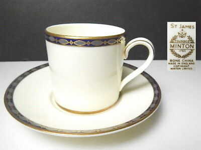 Minton ST JAMES Demitasse Cup & Saucer(s), 1st Quality, Mint
