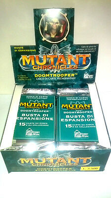 MUTANT CHRONICLES: BOX DOOMTROOPER 20 BUSTINE 300 CARTE ITA fondo di magazzino !