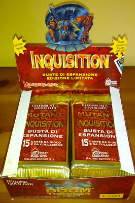 MUTANT CHRONICLES: BOX INQUISITION 20 BUSTINE 300 CARTE ITA fondo di magazzino !