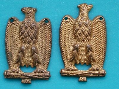 Italian Fascist Eagles Collar Badges For Ministerial Ministero P.n.f. Mostrine