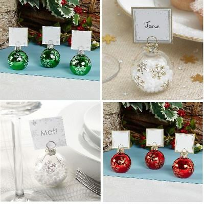6 Bauble Place Card Holders Or 10 Place Cards, Christmas Table Name Setting