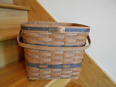 Longaberger JW Collection Two-Pie Basket 1986  carry a lot nice *free shipping!*