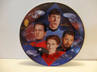 Star Trek 30 Years 1997  Plate Collection Second In Command