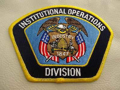 Institutional Operations Division Patch. .