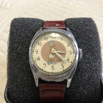 1948 Ingersoll Us Time Daisy Duck Watch With Original Band 20Th Birthday Series