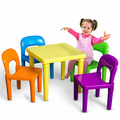 NEW! Kids Play Set Toddler Toy Activity Furniture Table and Chairs US