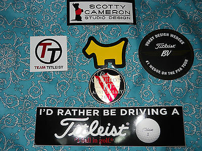 New Scotty Cameron,titleist+Vokey Stickers Collection Nice Fathers Day Gift Idea
