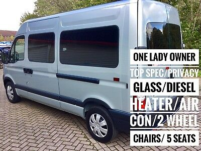 Renault Master Mwb High Roof Two Wheelchairs Accessible Disabled Adapted Wav