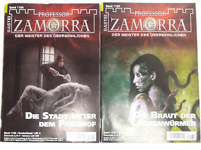 Professor Zamorra Fantasy Romane -NEU, ungelesen - September 2017  Nr. 1129-1130