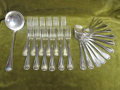 Vintage french silverplate 25p cutlery set Ercuis filets nets
