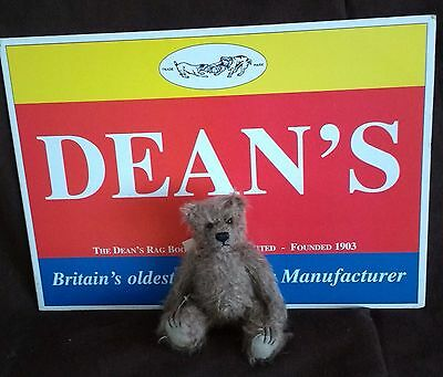 """Dean's Mini Traditional Mohair Teddy Bear  - 6"""" - Brown - New With Tags"""