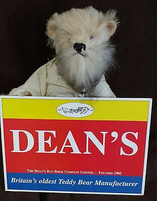 Deans Mohair Teddy Bear - Old Father Time  - No 38 Of 500 New With Tags