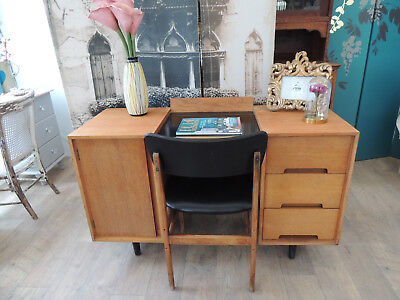 Vintage knee hole dressing table by  John & Sylvia Reid for Stag