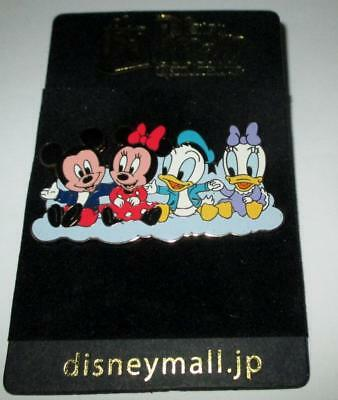 Fab 4 Babies Mickey Minnie Mouse Donald Daisy Duck Japan Disney Mall Pin LE 200
