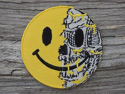 B009 ECUSSON PATCH THERMOCOLLANT aufnaher toppa SMILEY métal biker rock