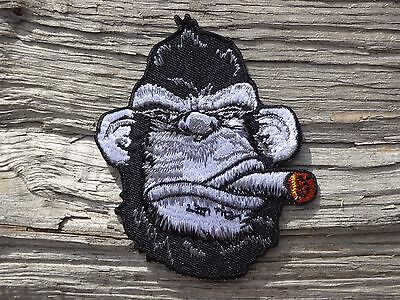 C001 ECUSSON PATCH THERMOCOLLANT aufnaher toppa GORILLE moto motard biker rock