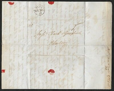 Great Britain 1832 Pre-stamp wrapper Lincolns Inn to Chertsy. Contents. Good.