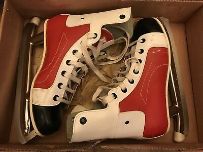 "Vintage Ice Hockey Skates By POLAR ""bully"" Boxed Size 41 - 8 Vgc"