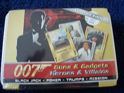 James Bond 007 Playing Cards Limited Edition Tin Boxset 1977 Of 5000 Sealed