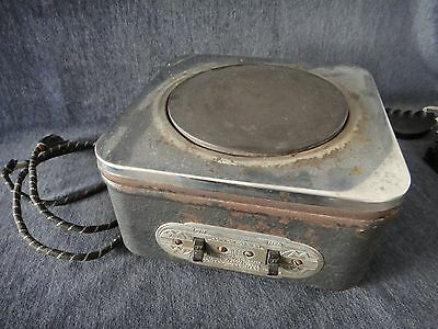 Vintage Pre-WWII (?) Montgomery Ward Single Burner 990w Electric Hot Plate