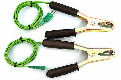 Pipe clamp temperature lead probe pair of type K thermocouple sensor probes