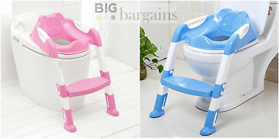 Teddie Children's Potty Toilet Training Ladder and Seat Adjustable and Anti Slip