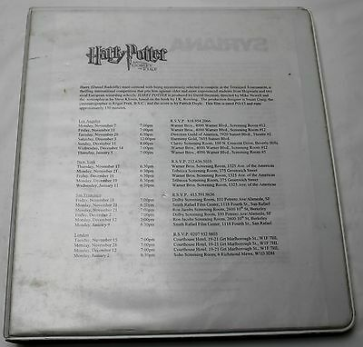 HARRY POTTER and the Goblet of Fire * 2004 RARE Original Movie Script Screenplay