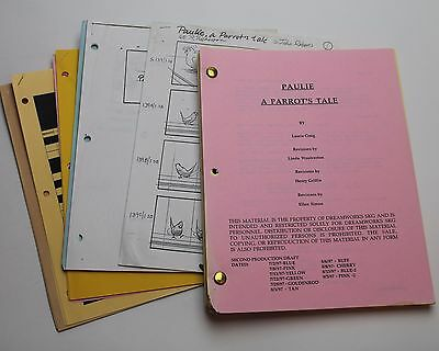 Paulie * 1997 Original Storyboard Script & Screenplay * Cheech Marin Comedy