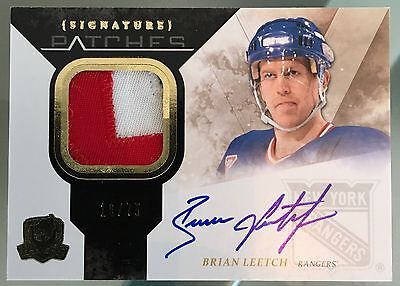 UD The Cup 2010-11 3 Colors Auto Signatures Patches Brian Leetch