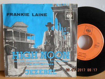 "7"" OST! FRANKIE LAINE - High Noon / Jezebel # KULT SOUNDTRACK ""12 Uhr Mittags"""