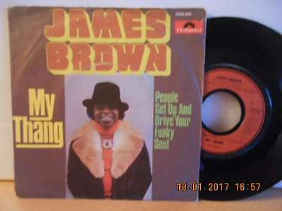 """7"""" Rarität 1974 ! JAMES BROWN - My Thang / People Get Up And Drive Your # Soul"""