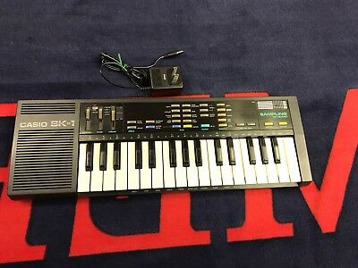 Vintage 1980's Casio SK-1 Sampling Keyboard Electronics Works w AC Adapter
