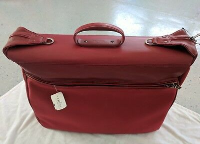 NWT! RARE RED Garment Bag TUMI Excellent luggage Travel Overnight Retails $475