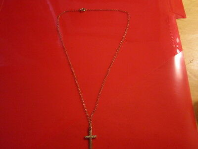 small gold cross with chain