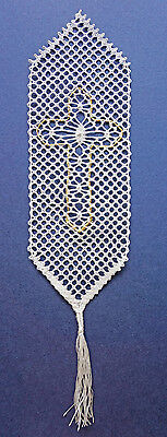 Cross Bookmark Bobbin Lace Pattern Lacemaking Crafts *PATTERN ONLY*