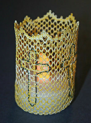 CrossTea Light Holder Torchon Bobbin Lace Pattern Lacemaking *PATTERN ONLY*
