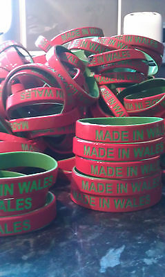 Made in Wales wristband Rugby football