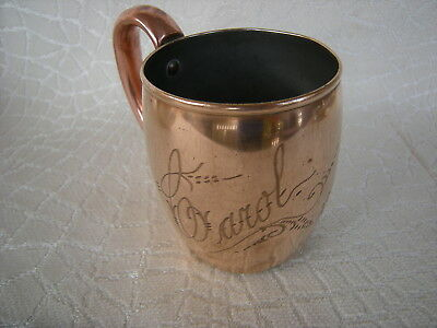 Old Engraved Carol 1934 Copper Mug Beer Beer Stein