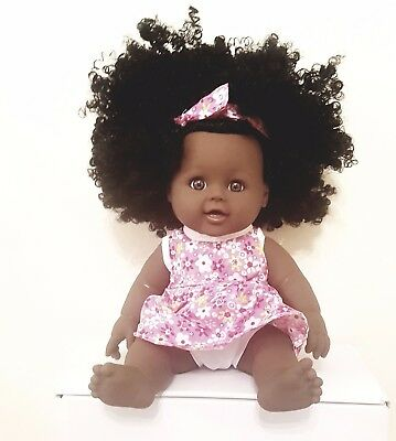 12inch Cute Afro  Baby doll  plus an extra outfit