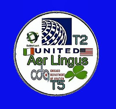 Aer Lingus airlines pin - United airlines pin