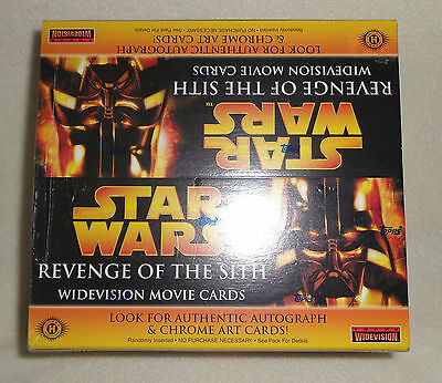 Star Wars TOPPS Widevision Revenge of the Sith 24pk RETAIL BOX Autograph SEALED