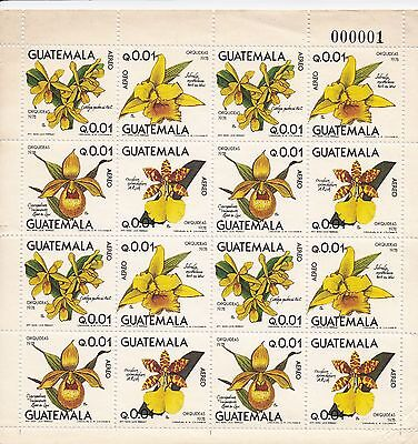 Complete Sheets 4x4 Guatemala Orchids seq. 01 to 100