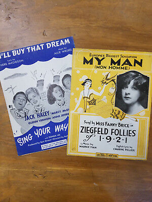 Vintage Sheet Music - 2 Pack - I'll Buy That Dream and My Man