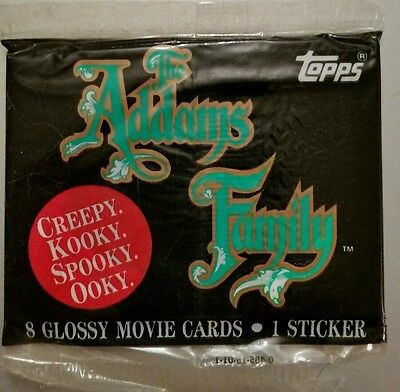 1991 TOPPS Paramount The Addams Family movie Stickers MINT IN PACKAGE